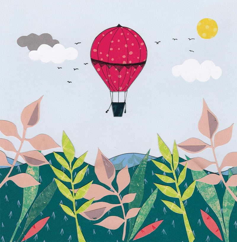 Hot Air Balloon Greetings Card