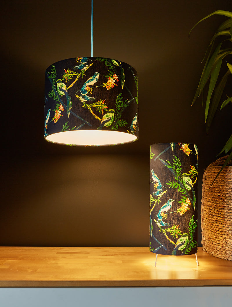 SECONDS- Midnight Birds Lampshade