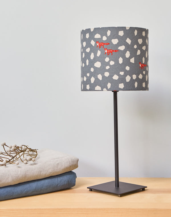 Red Fox on Grey Lampshade