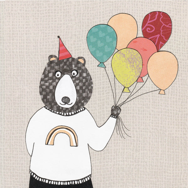 Mr Bear Greetings Card