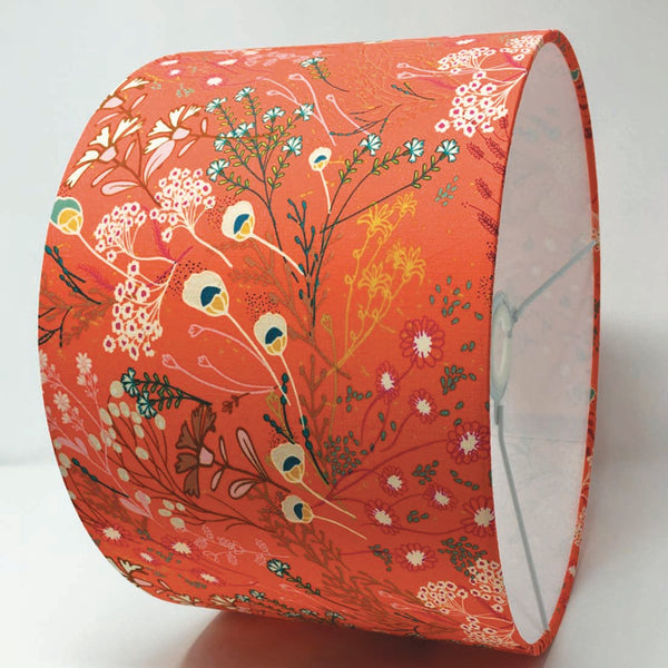 Coral Wildflower Lampshade