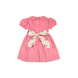 Cindy Lou Sash Dress BroadCloth Hamptons Hot Pink/Party at Plymouth