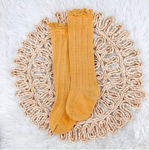 Knit Ribbed Socks