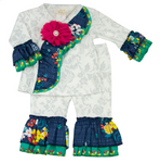 Fall Fantasy Infant Girls Criss Cross Set