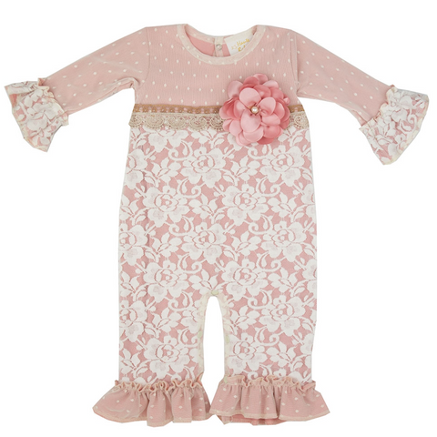 Misty Mauve Infant Girls Coverall