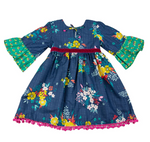 Fall Fantasy Little & Big Girls Boho Dress