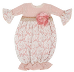 Misty Mauve Newborn Girls Take-me-home Gown