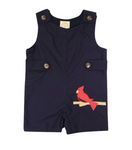 Jack Keene Jon Jon Broadcloth with Cardinal Applique