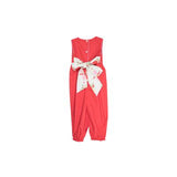 Rebecca Romper- Sleeveless Richmond Red/Party at Plymouth/Hot Pink