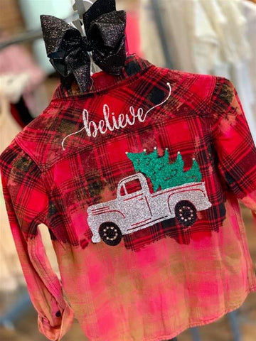 Flannel Believe Truck