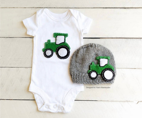 Tractor Bodysuit Set
