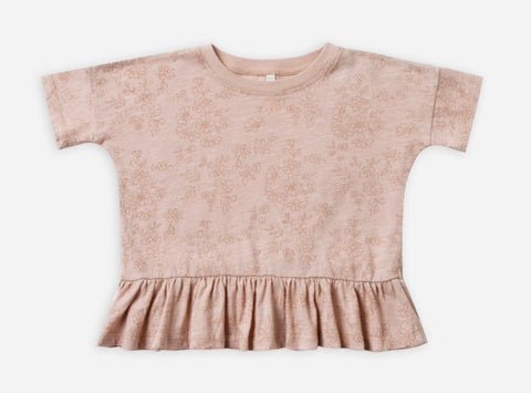 Garden Peplum Rose Top