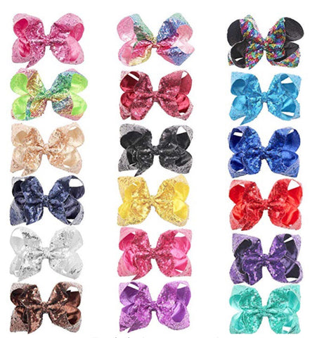 Medium sequin bow-Clip