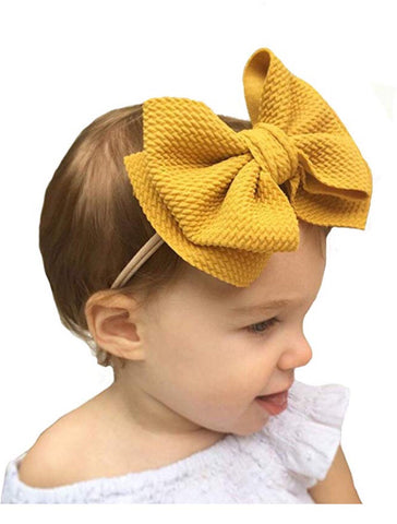 5.5 inch double stack fabric bow on nylon