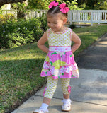 Boutique Floral Dress Polka Dot Leggings Outfit