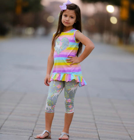 Rainbows & Unicorn High Low Tunic & Leggings