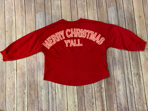 Merry Christmas Y'all Cotton Jersey