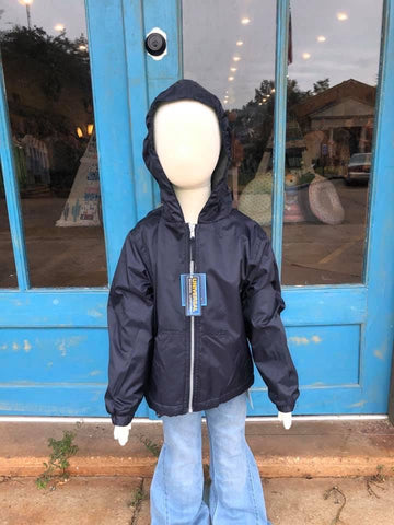 School Navy Rain Jacket