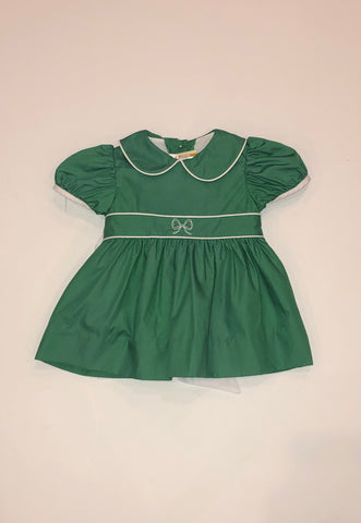 BBC Cindy Lou Dress White w/ Kelly Green