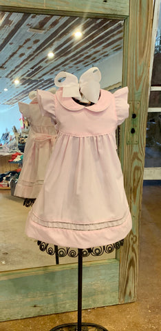 Pink Hemstich Dress
