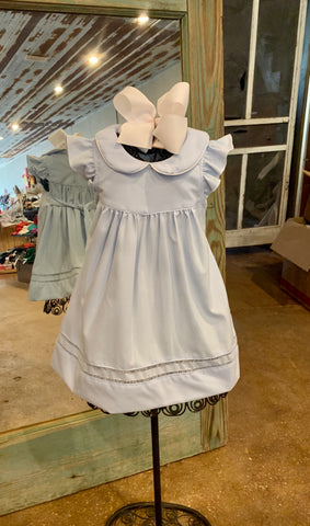 Baby Blue Hemstitch Dress