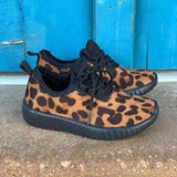 Baby Leopard Tennis Shoes