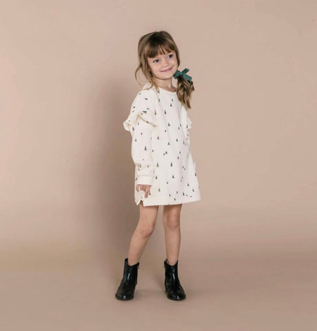 Trees Sweatshirt Dress