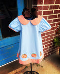 Pumpkin Applique Dress
