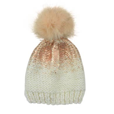 Pearl Pom Hat