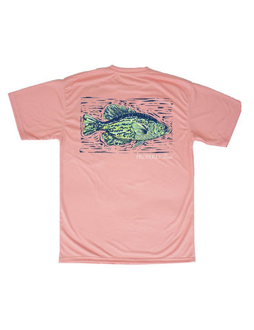 """Crappie Fish"" Performance SS Tee"