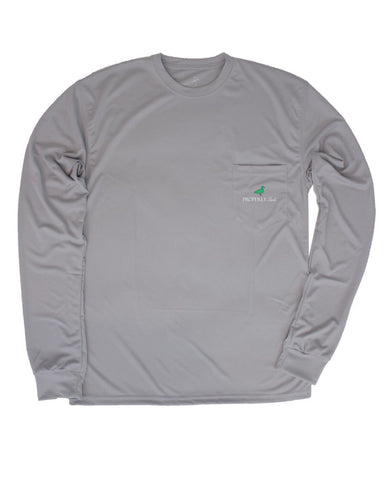 Performance Long Sleeve Tee-Chrome Grey