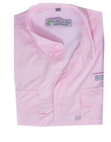 Performance Fishing Shirt- Light Pink