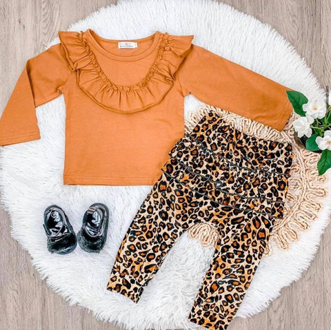 Wild About You 2 Piece Rust Cheetah Set