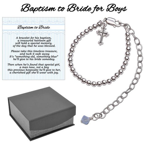 Boy's Baptism to Bride Bracelet
