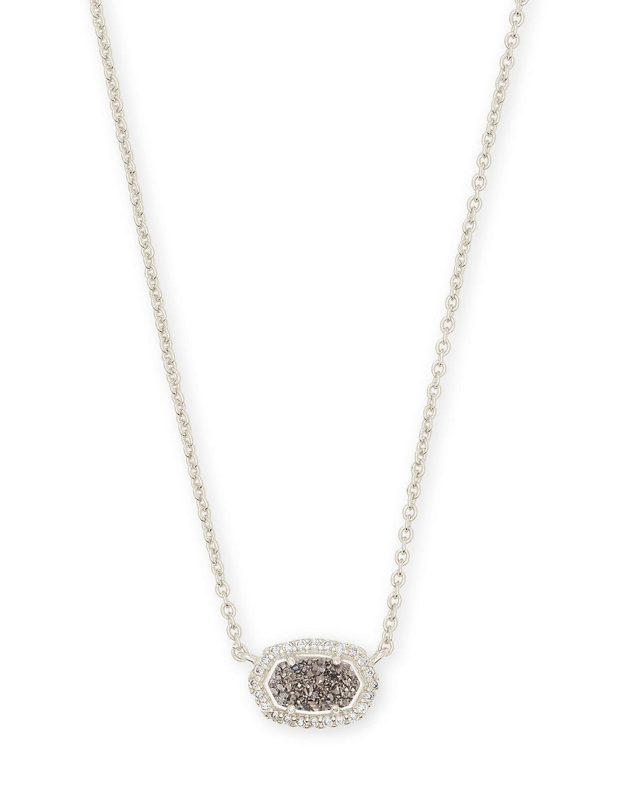 Kendra Scott: Chelsea Silver Pendant Necklace in Platinum Drusy