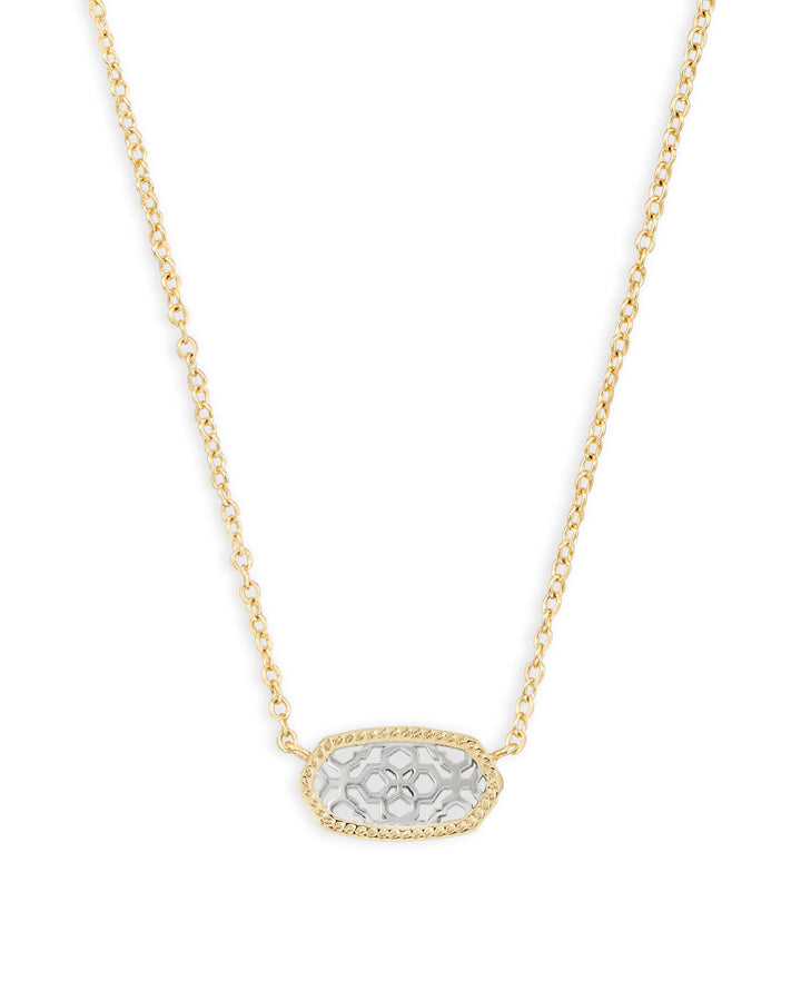 Kendra Scott: Elisa Gold Pendant Necklace in Silver Filigree
