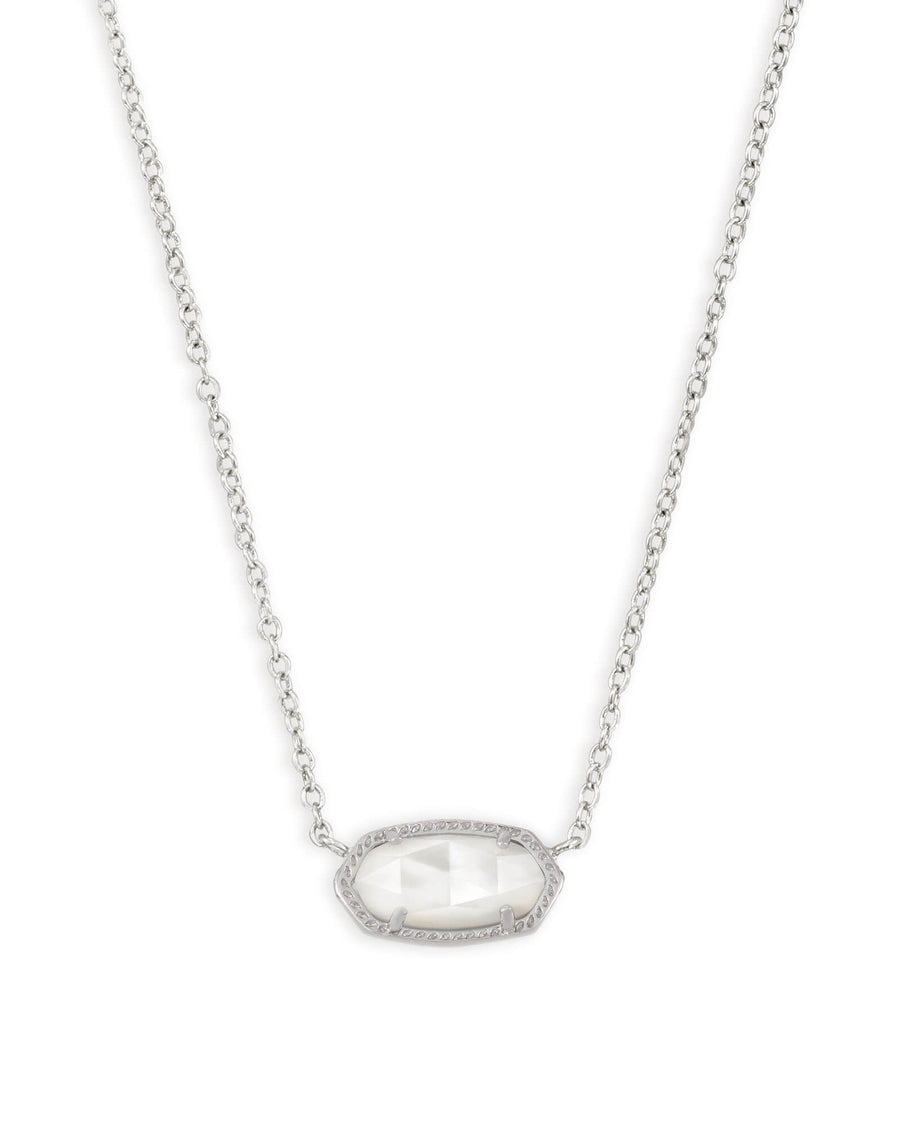 Kendra Scott: Elisa Silver Pendant Necklace in Ivory Pearl