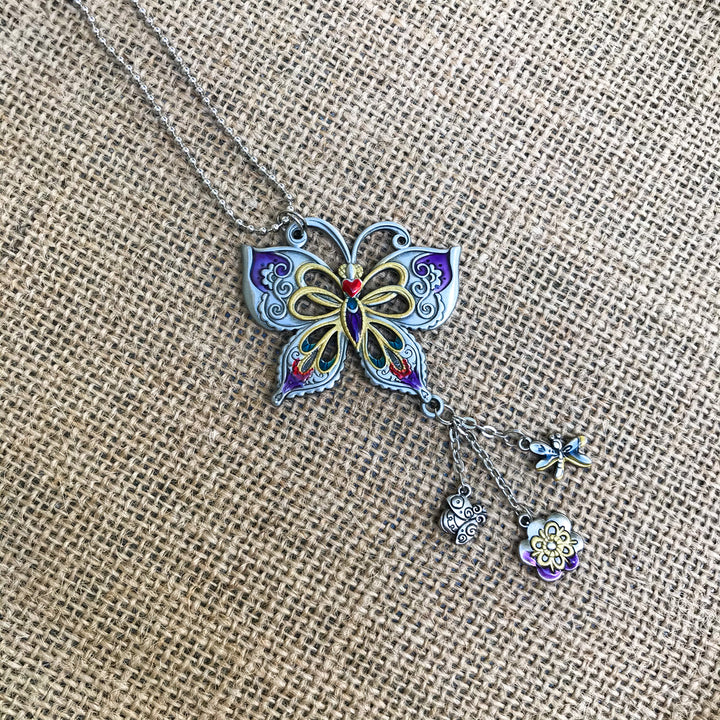 Car Charm: Enamel Butterfly