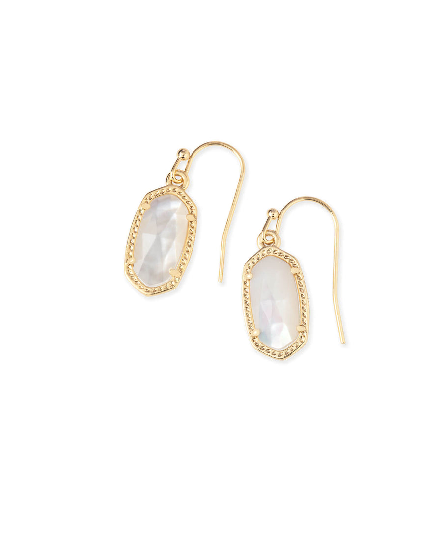 Kendra Scott: Lee Gold Drop Earrings In Ivory Pearl