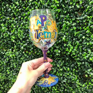 Lolita: Happy Retirement Wine Glass
