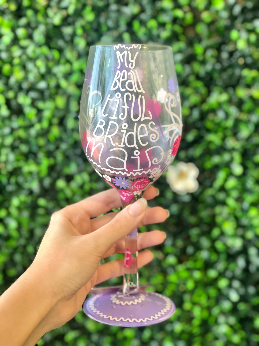 Lolita: My Beautiful Bridesmaid Wine Glass