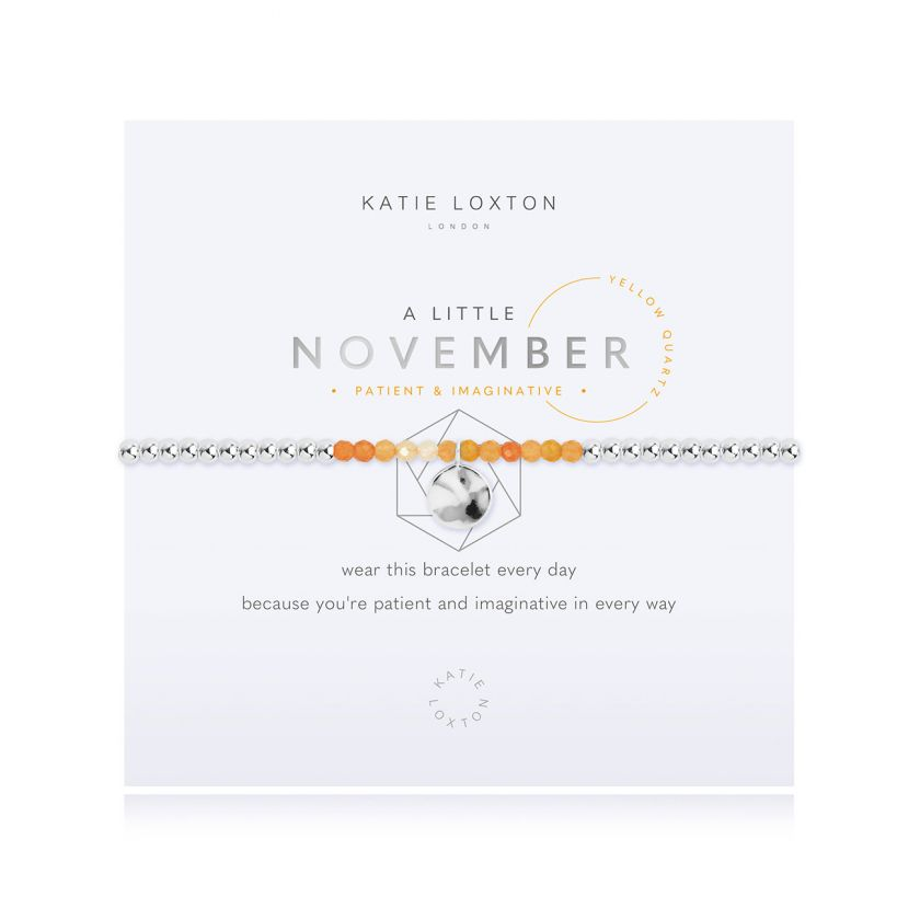 Katie Loxton: A Little November Bracelet
