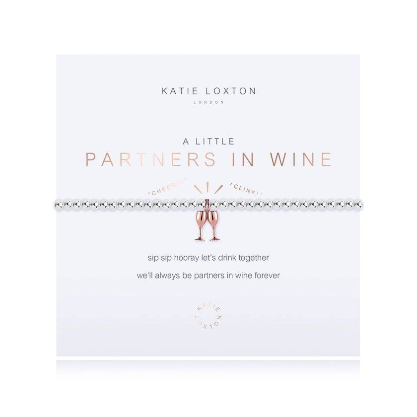 Katie Loxton: A Little Partners In Wine Bracelet