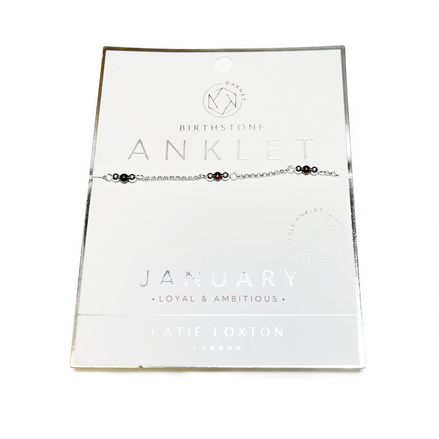 Katie Loxton: January Birthstone Anklet