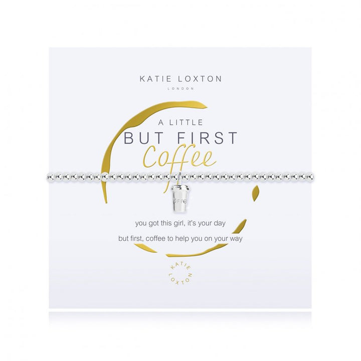 Katie Loxton: A Little But Coffee First Bracelet