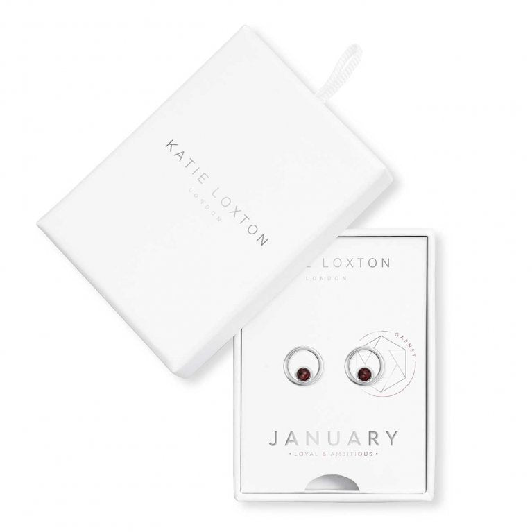 Katie Loxton: Treasure The Little Things January Birthstone Earrings