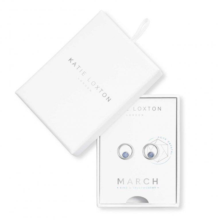 Katie Loxton: Treasure The Little Things March Birthstone Earrings
