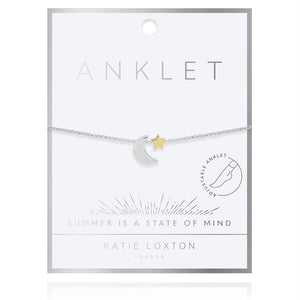 Katie Loxton: Two Tone Moon and Star Anklet