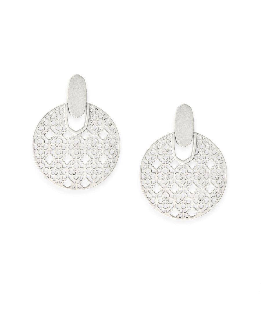 Kendra Scott: Didi Statement Earrings In Silver