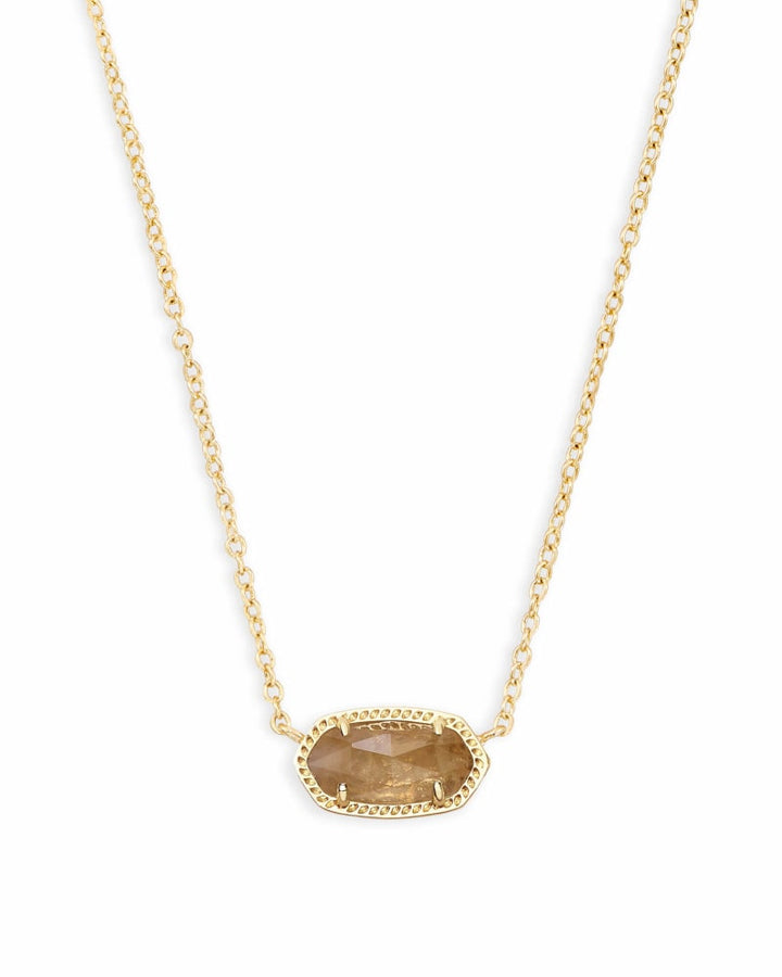 Kendra Scott: Elisa Gold Pendant Necklace in Orange Citrine